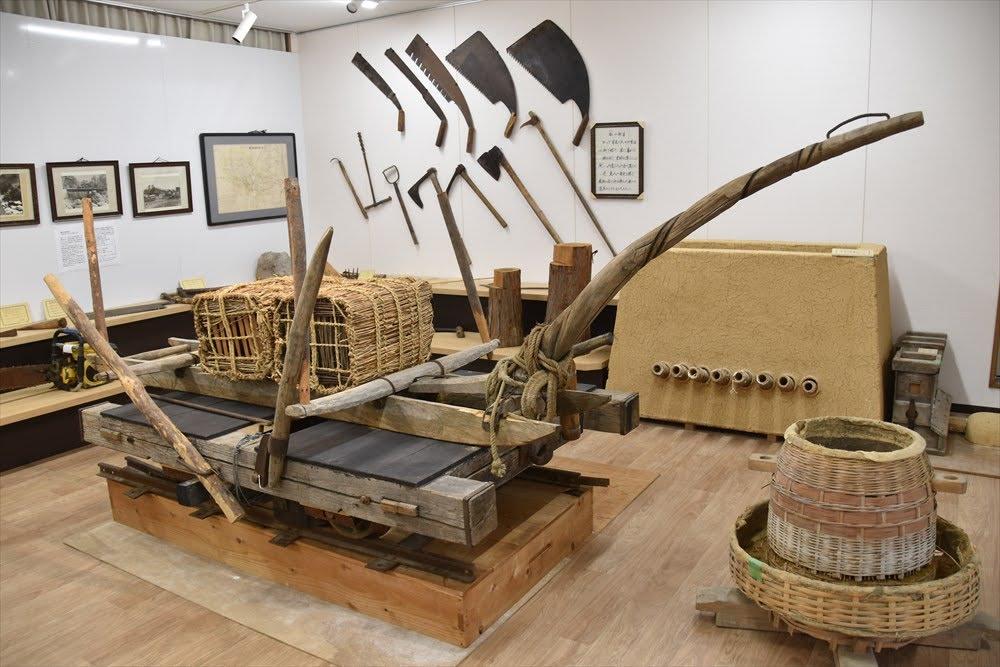 郷土文化保存伝習館の内部