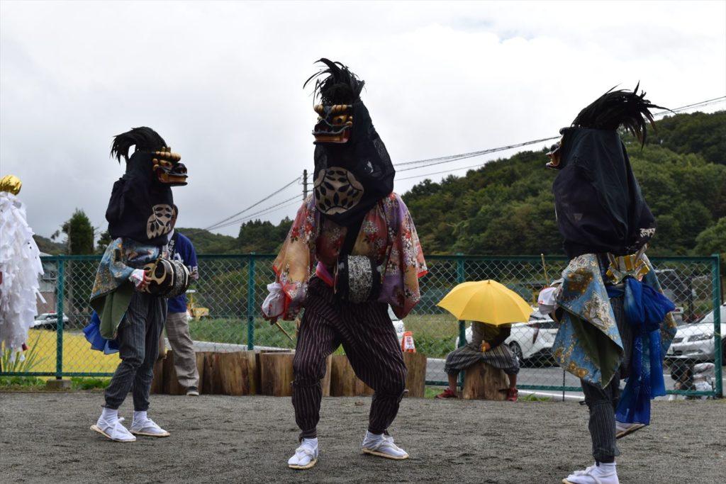 葛尾村の三匹獅子舞