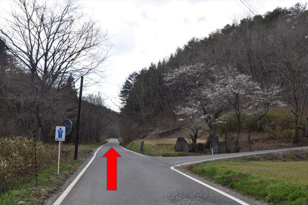 <ツールドかつらお28kmコース・ポイント4>スタートから約8.8km