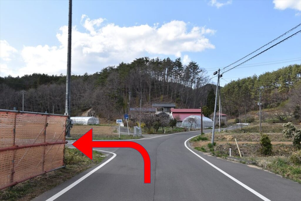 <ツールドかつらお28kmコース・ポイント11>スタートから約13.0km