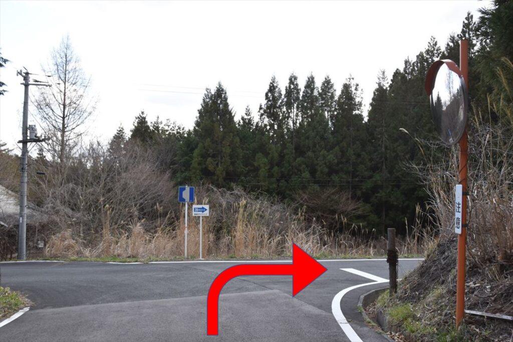 <ツールドかつらお28kmコース・ポイント17>スタートから約22.45km